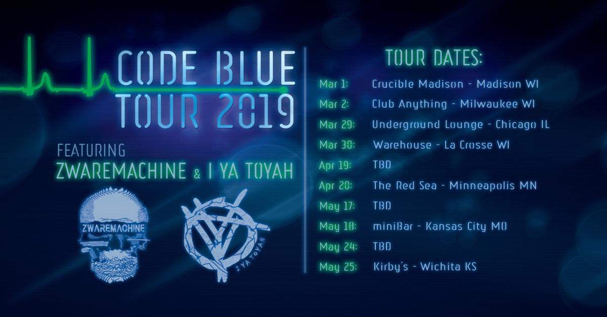 Zwaremachine & I Ya Toyah 'Code Blue' TourAnnouncement!